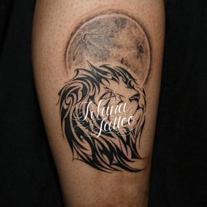 ライオンのトライバルタトゥー