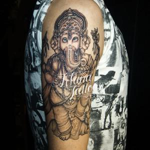 ガネーシャの刺青