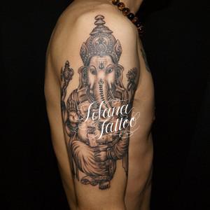ガネーシャのタトゥー