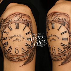 時計のタトゥー|刺青作品画像