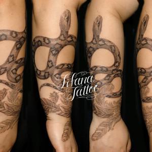 蛇|ヘビのタトゥー|刺青作品画像