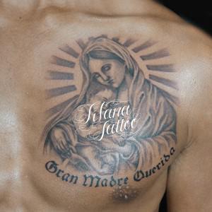 聖母子のタトゥー作品画像