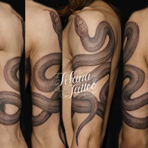 蛇の刺青作品画像