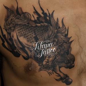 麒麟の刺青作品
