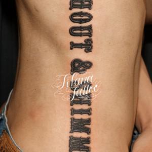 文字のタトゥー|刺青作品画像