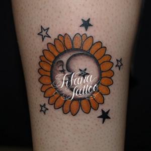 太陽|月|星のタトゥー