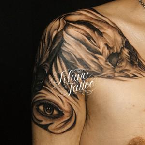 スカル|目のタトゥー