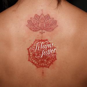 ヘナ|メヘンディ柄のタトゥー