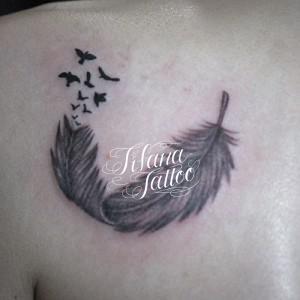 羽|鳥のタトゥー