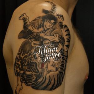 虎退治の刺青作品