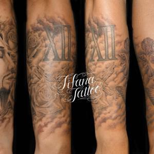 キリスト|薔薇|天使|蝶のタトゥー
