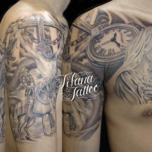 マリア様|懐中時計|蛇|磔刑|馬のタトゥー