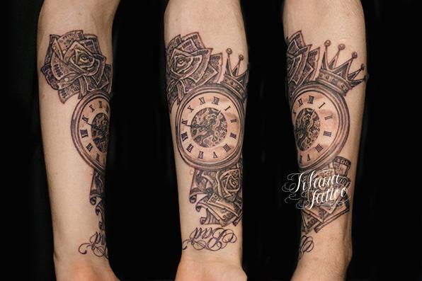 clock_and_money_rose_tattoo