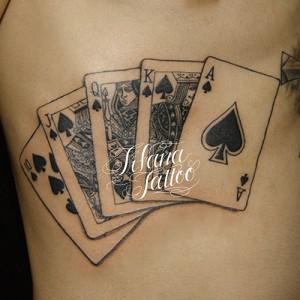 Royal Straight Flash Tattoo