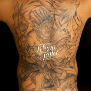 不動明王の刺青作品