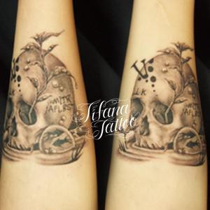 スカル|ドクロの刺青作品