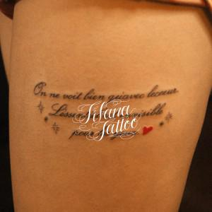 French Script Tattoo