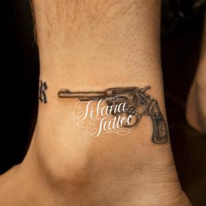 Hand Gun Tattoo