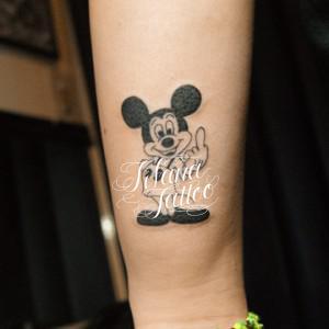 Fuck Mickey Tattoo