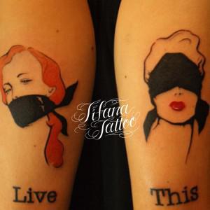 持込デザインのタトゥー