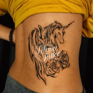 UNICORN TRIBAL TATTOO