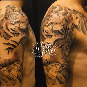 虎の刺青作品