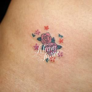 Tiny Roses Tattoo