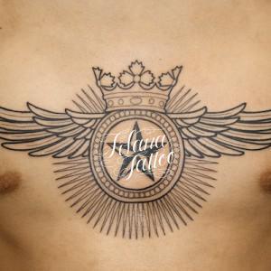王冠|翼|星のタトゥー