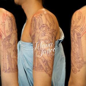 ブシュケ|キューピットのタトゥー|製作中