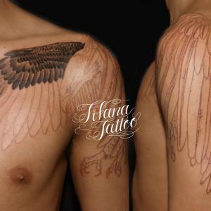 白頭鷲のタトゥー|製作中