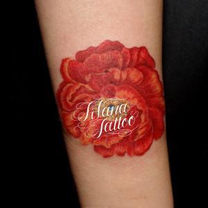 花のタトゥー|持込デザイン