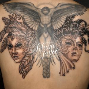 ベネチアン・マスクのタトゥー