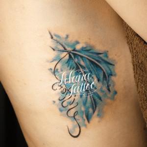 青い羽|フェザー・タトゥー