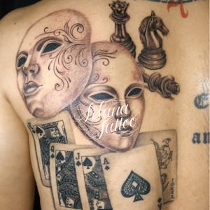 ベネチアンマスク|チェス|トランプのタトゥー