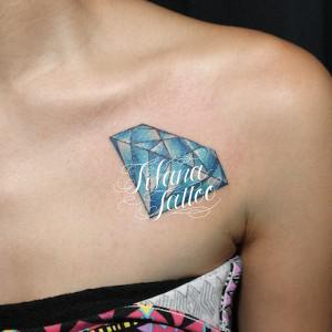 ダイヤのタトゥー