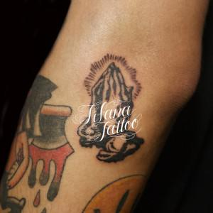 Small Praying hands Tattoo