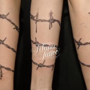有刺鉄線のタトゥー