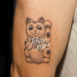 招き猫のタトゥー