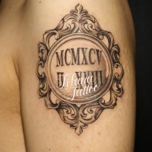 ローマ数字のタトゥー