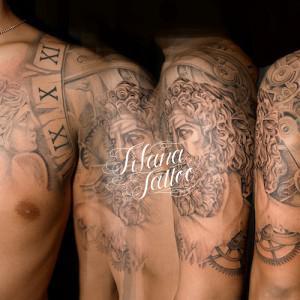 彫刻タトゥー