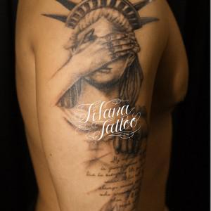 自由の女神のタトゥー