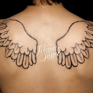 羽|翼のタトゥー