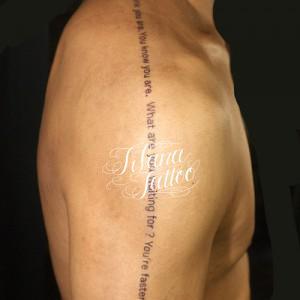 文字のタトゥー