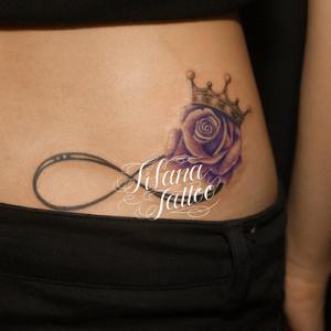 薔薇|王冠|無限大のタトゥー