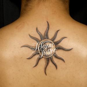 太陽|月|蓮|梵字のタトゥー