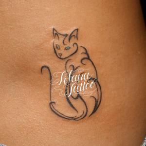 猫のトライバルタトゥー