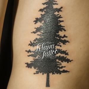 樹木のタトゥー