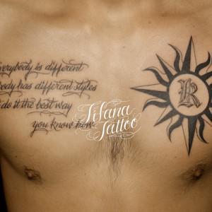 太陽|文字のタトゥー