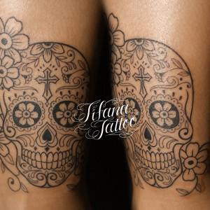 メキシカンスカルのタトゥー