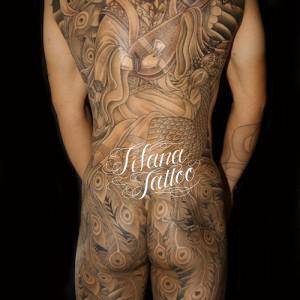 天女|鳳凰の刺青作品